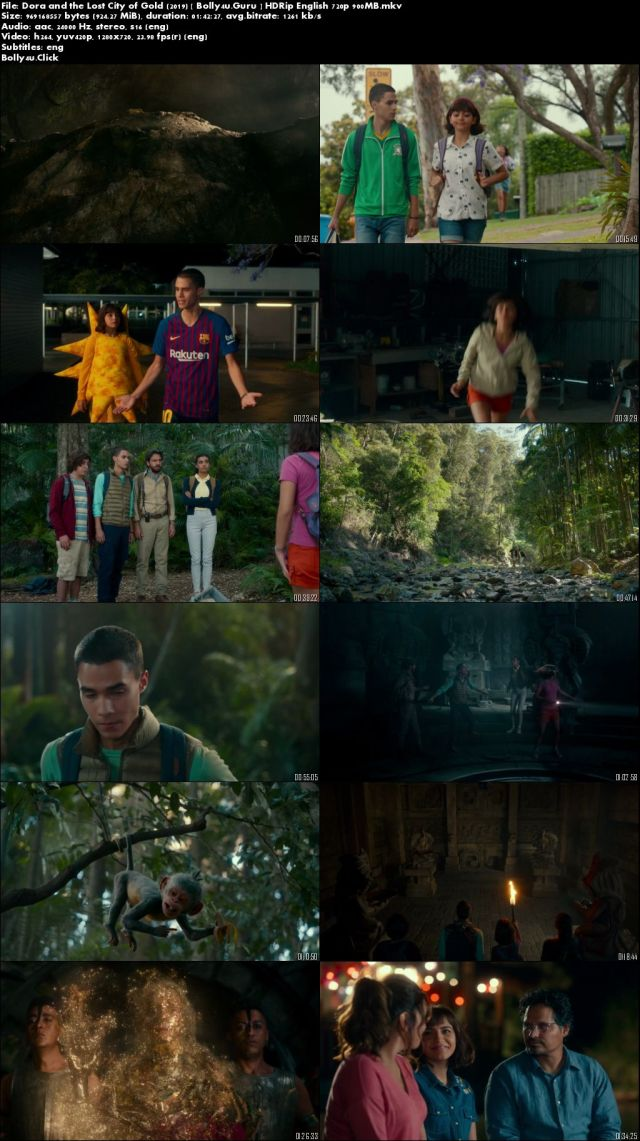 Dora and the Lost City of Gold 2019 HDRip 300MB English 480p ESub Download