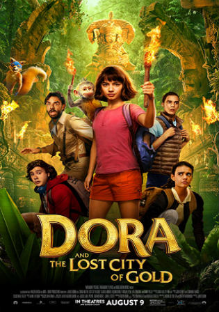 Dora and the Lost City of Gold 2019 HDRip 300MB English 480p ESub Watch Online Full Movie Download bolly4u