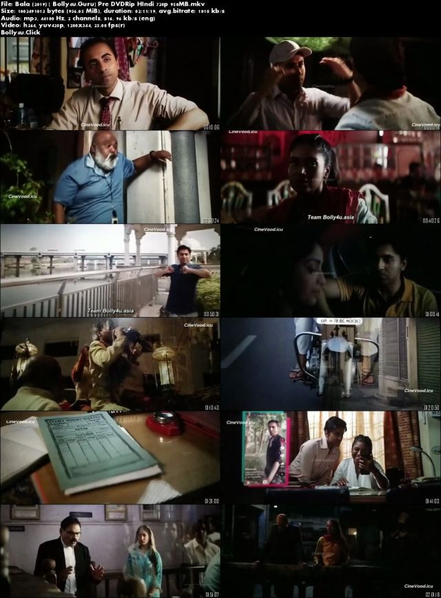 Bala 2019 Pre DVDRip 950Mb Full Hindi Movie Download 720p