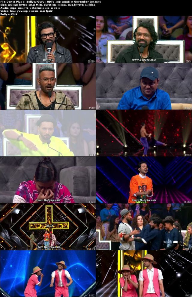 Dance Plus 5 HDTV 480p 250MB 09 November 2019 Download