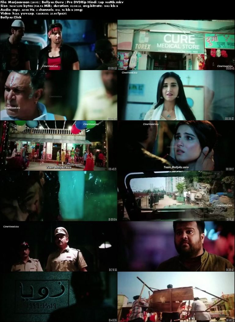 Marjaavaan 2019 Pre DVDRip 900MB Full Hindi Movie Download 720p