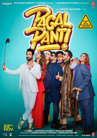 Pagalpanti 2019 Pre DVDRip 300MB Full Hindi Movie Download 480p Watch Online Free bolly4u