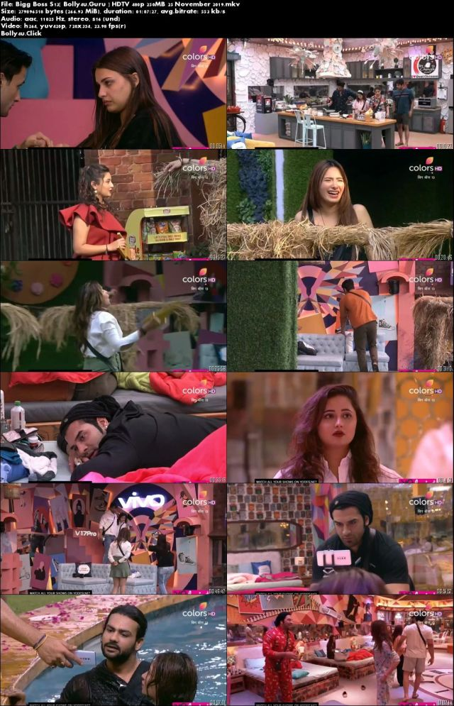 Bigg Boss S13 HDTV 480p 250MB 25 November 2019 Download