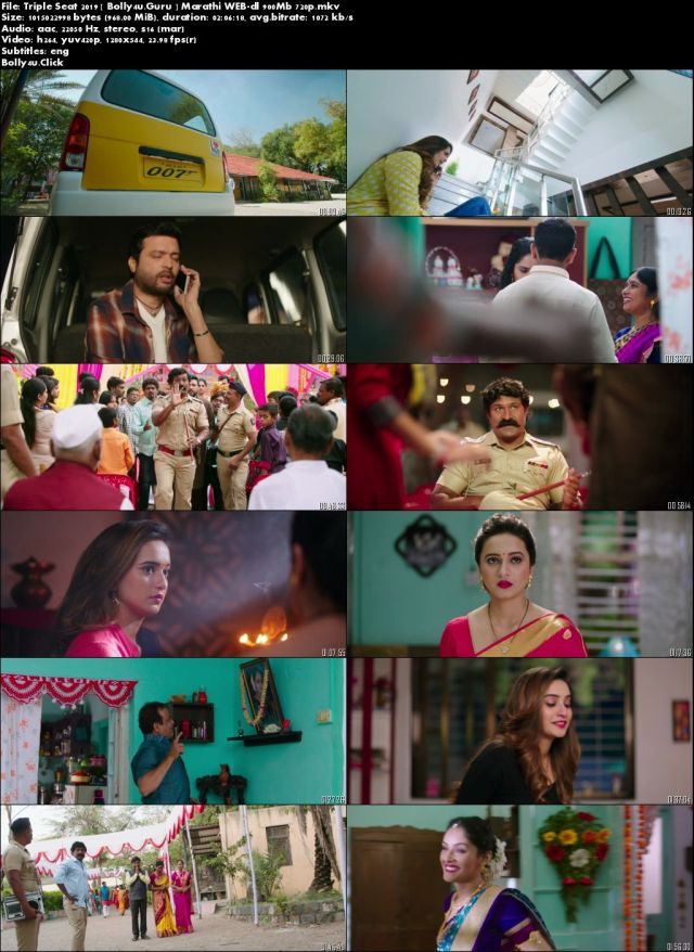 Triple Seat 2019 WEB-DL 300MB Marathi 480p Download