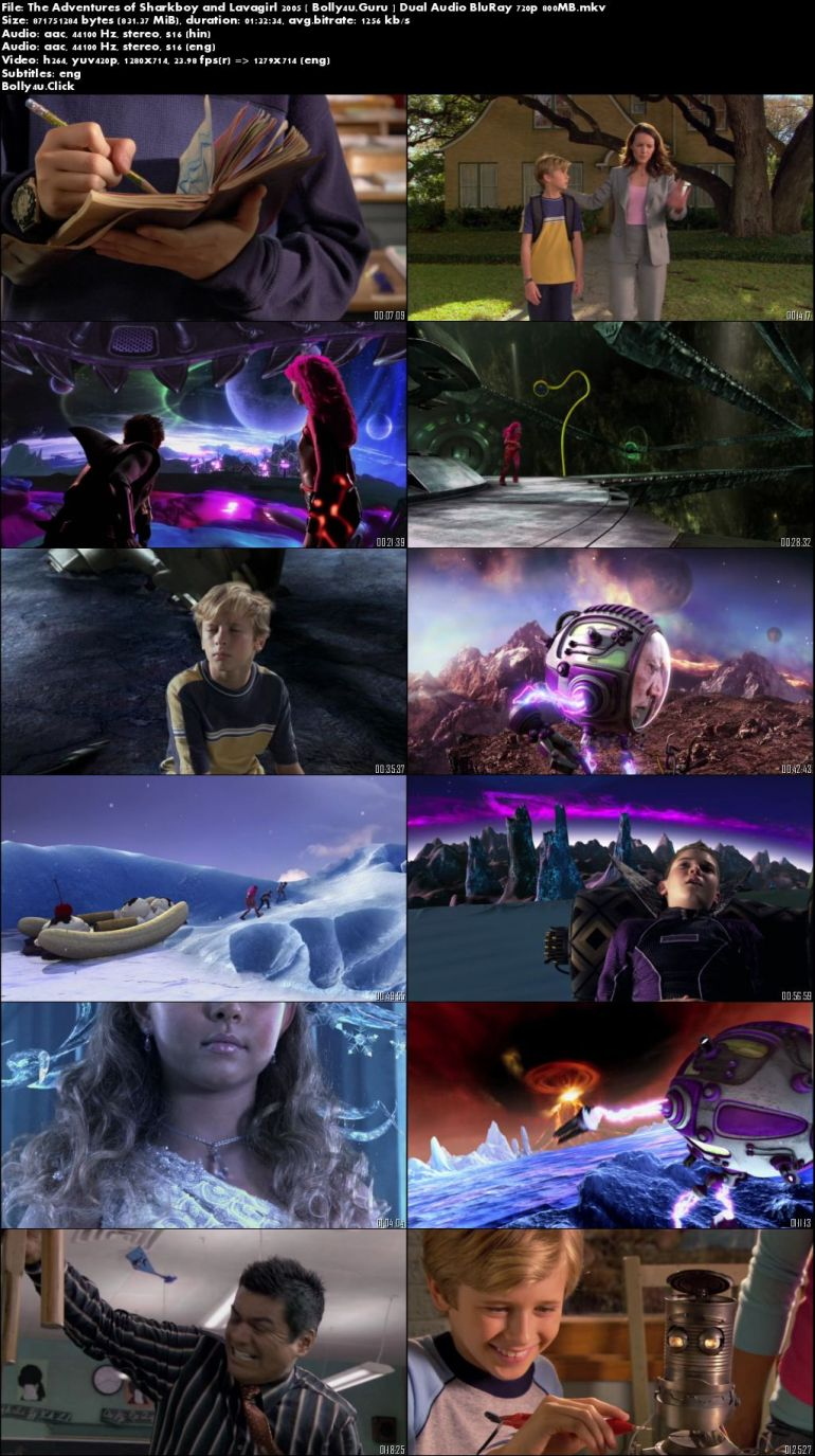 The Adventures of Sharkboy and Lavagirl 2005 BRRip 300Mb Hindi Dual Audio 480p Download