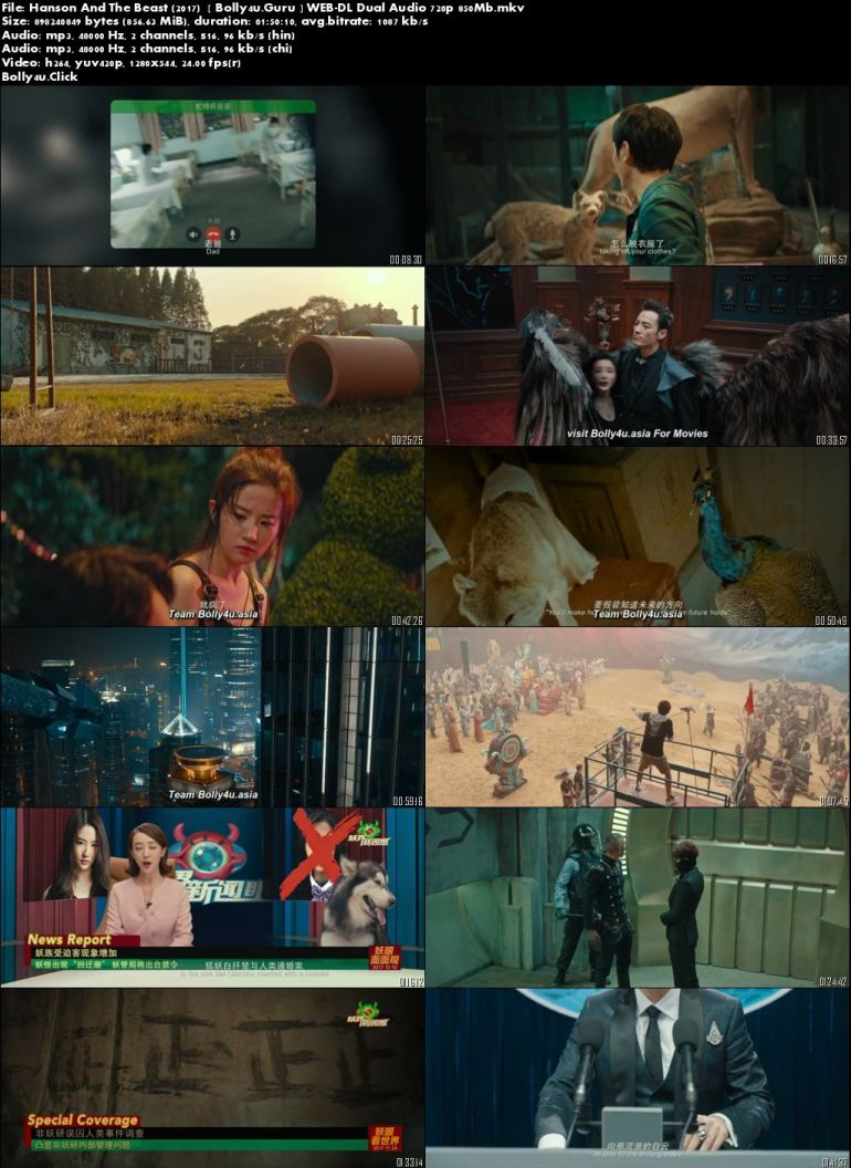 Hanson And The Beast 2017 WEB-DL 850Mb Hindi Dual Audio 720p Download