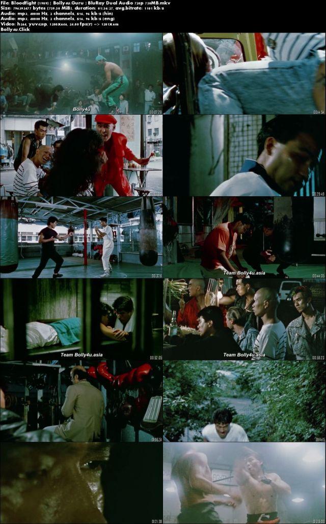 Bloodfight 1989 BluRay 750Mb Hindi Dual Audio 720p Download