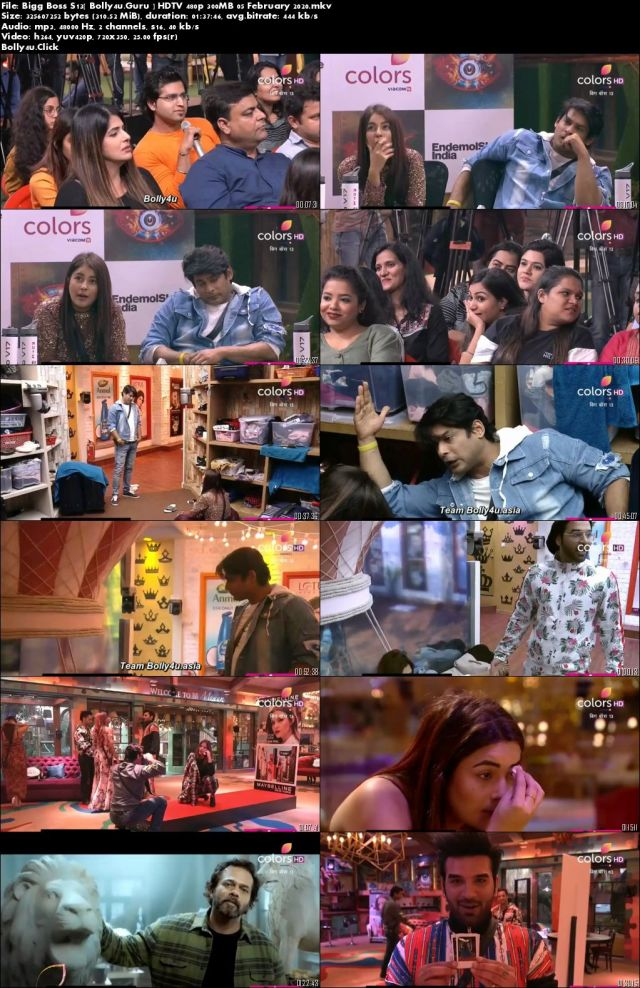 Bigg Boss S13 HDTV 480p 300MB 05 February 2020 Download