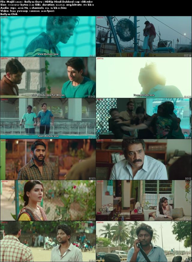 Majili 2020 HDRip 400MB Hindi Dubbed 480p Download