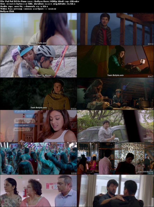 Pal Pal Dil Ke Paas 2019 HDRip 1GB Full Hindi Movie Download 720p
