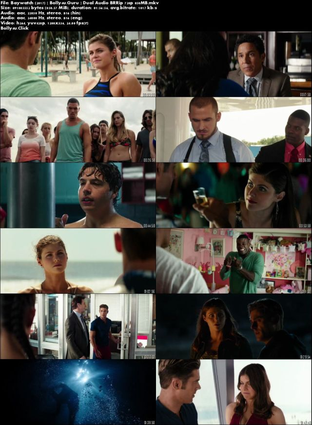Baywatch 2017 BRRip 850MB Hindi Dual Audio ORG 720p Download