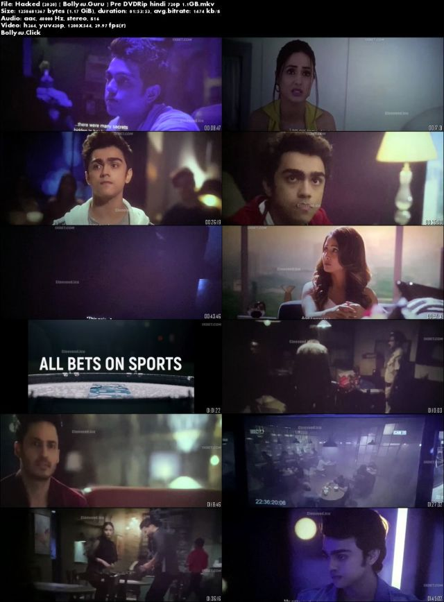 Hacked 2020 Pre DVDRip 1.1GB Full Hindi Movie Download 720p