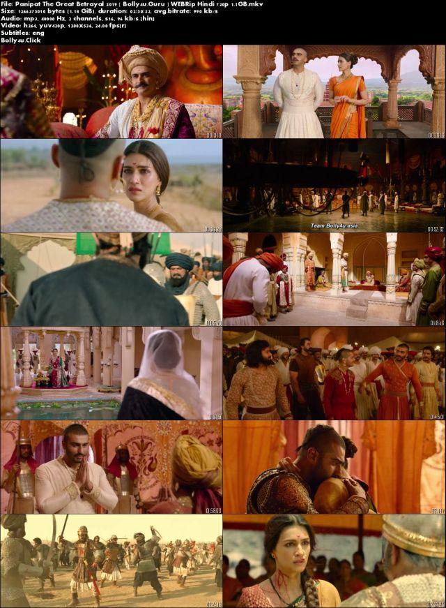 Panipat The Great Betrayal 2019 WEBRip 500MB Hindi Movie Download 480p