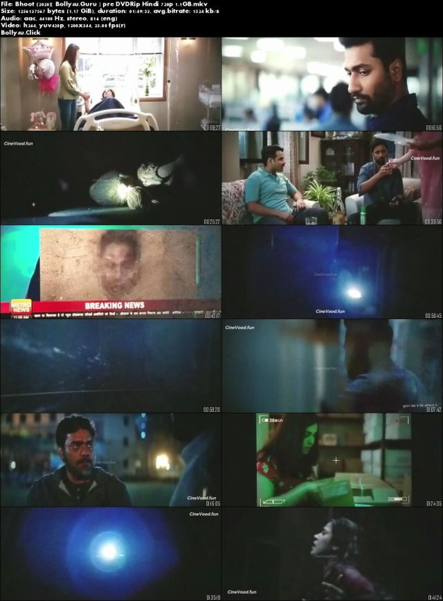 Bhoot 2020 Pre DVDRip 300MB Full Hindi Movie Download 480p