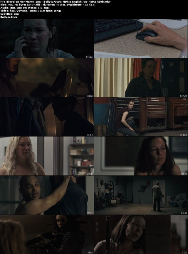 Blood on Her Name 2019 HDRip 270Mb English 480p ESub Download