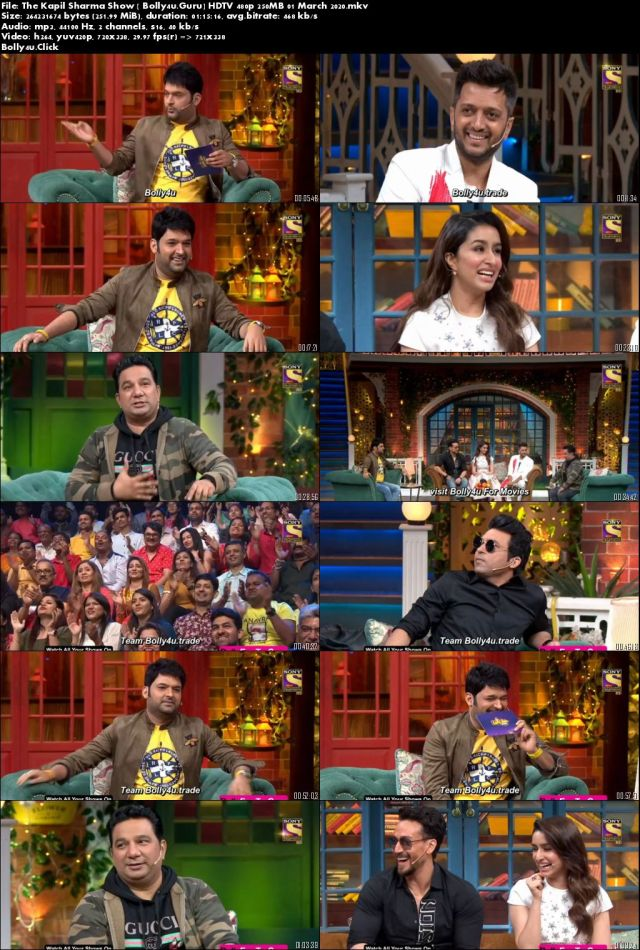 The Kapil Sharma Show HDTV 480p 250MB 01 March 2020 Download