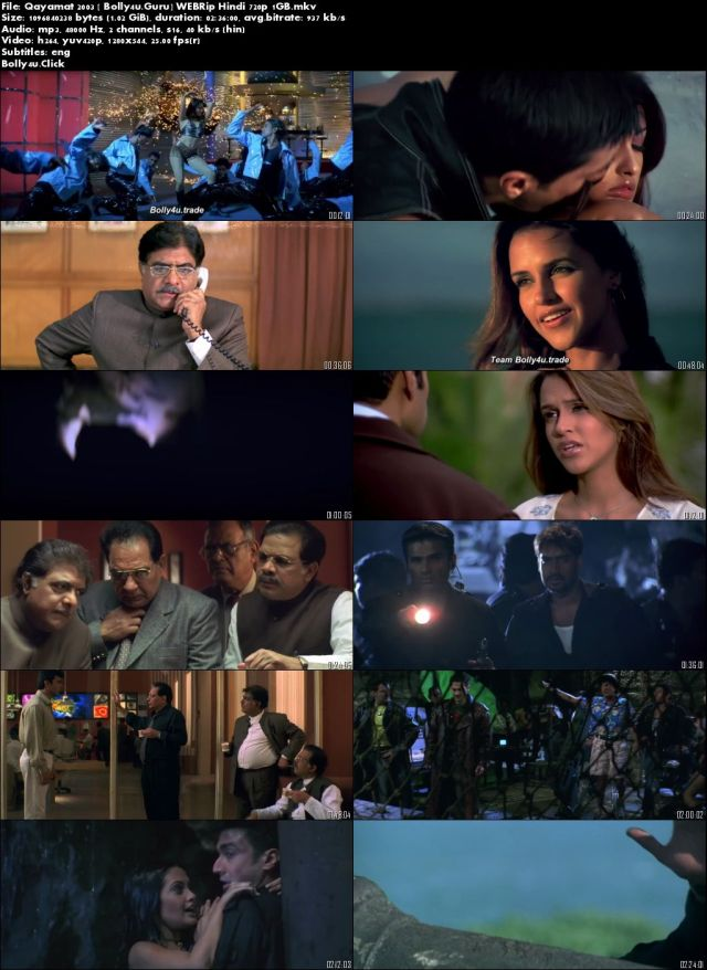 Qayamat 2003 WEBRip 1GB Full Hindi Movie Download 720p