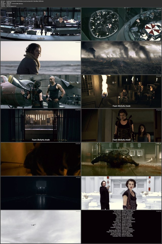 Resident Evil Afterlife 2010 BluRay 750Mb Hindi Dual Audio ORG 720p Download