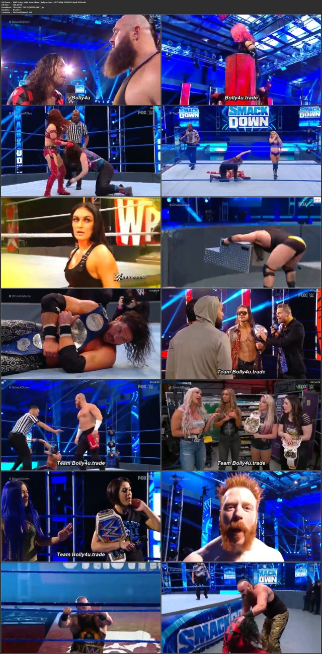 WWE Friday Night Smackdown HDTV 480p 250MB 10 April 2020 Download