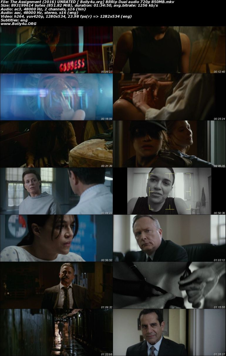 The Assignment 2016 BRRip 850Mb UNRATED Hindi Dual Audio 720p Download