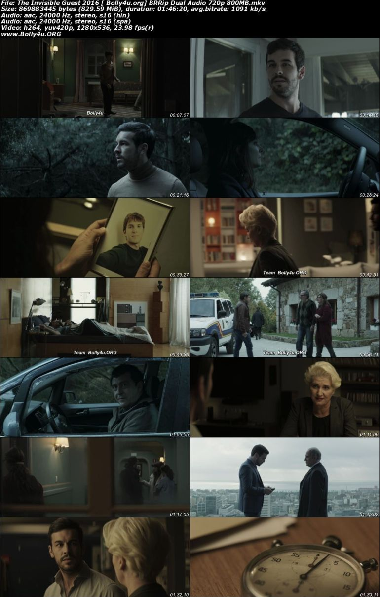 The Invisible Guest 2016 BRRip 800Mb Hindi Dual Audio 720p Download