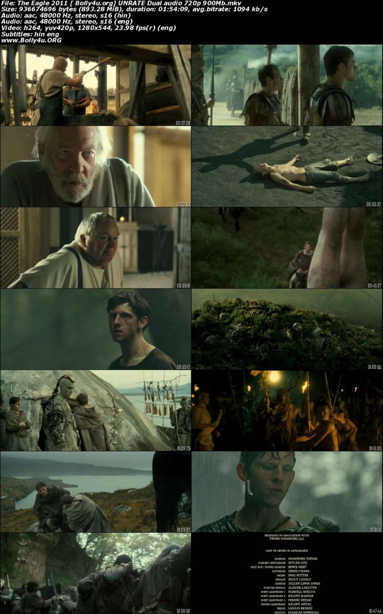The Eagle 2011 BRRip 900MB UNRATED Hindi Dual Audio 720p Download