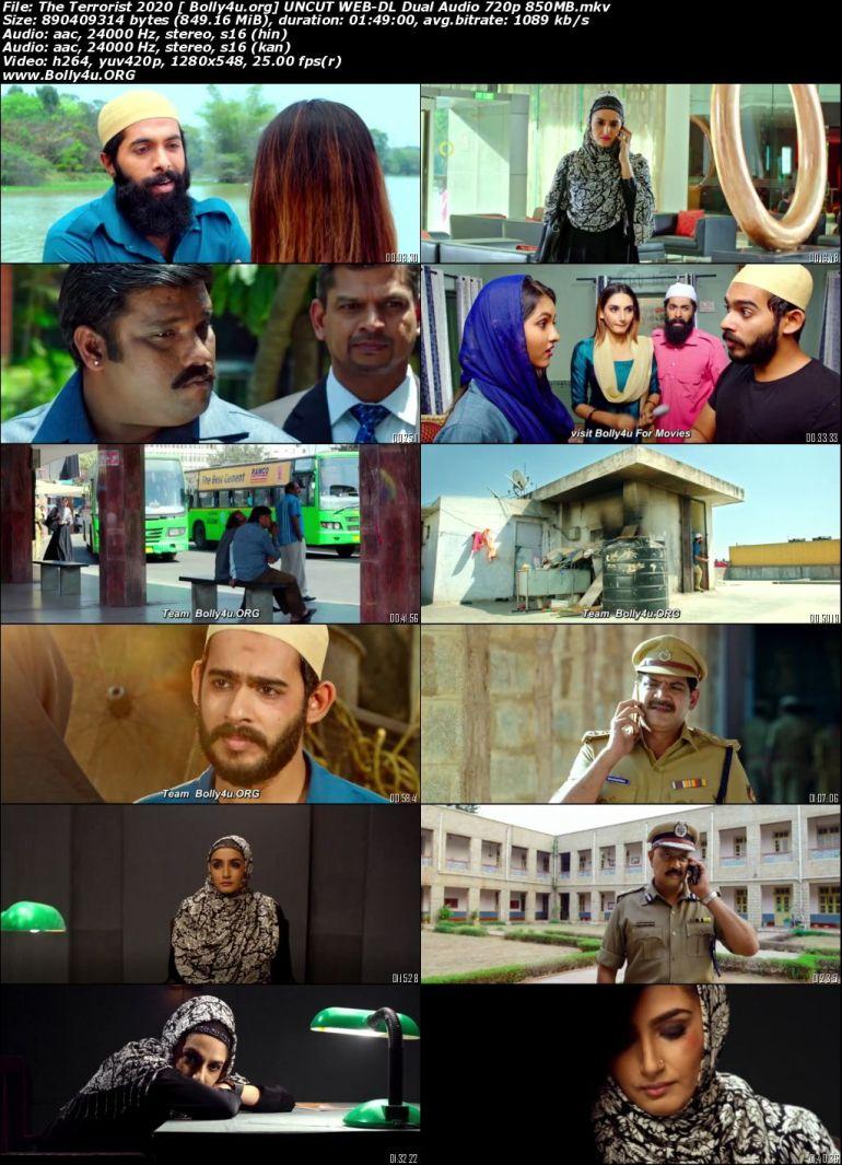 The Terrorist 2020 WEB-DL 850MB UNCUT Hindi Dual Audio 720p Download