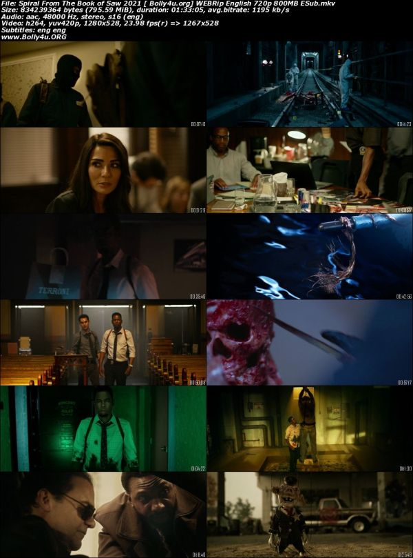 Spiral From The Book of Saw 2021 WEBRip 800MB English 720p ESub Download