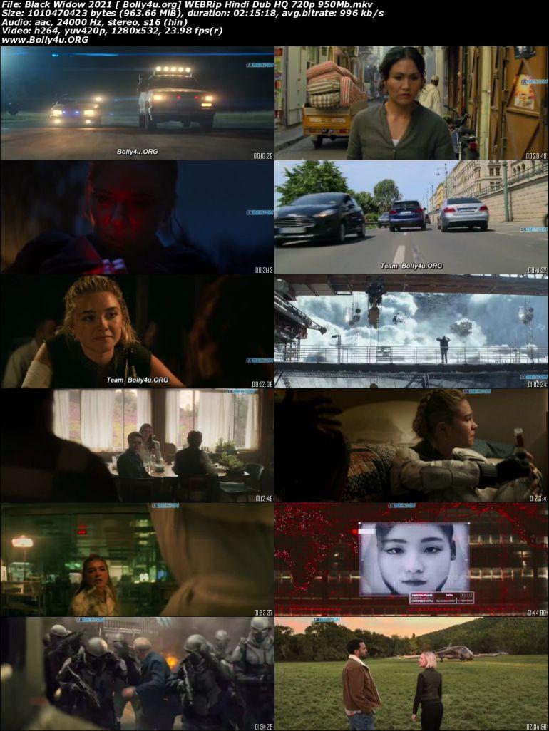 Black Widow 2021 WEBRip 400Mb Hindi Dubbed HQ 480p Download