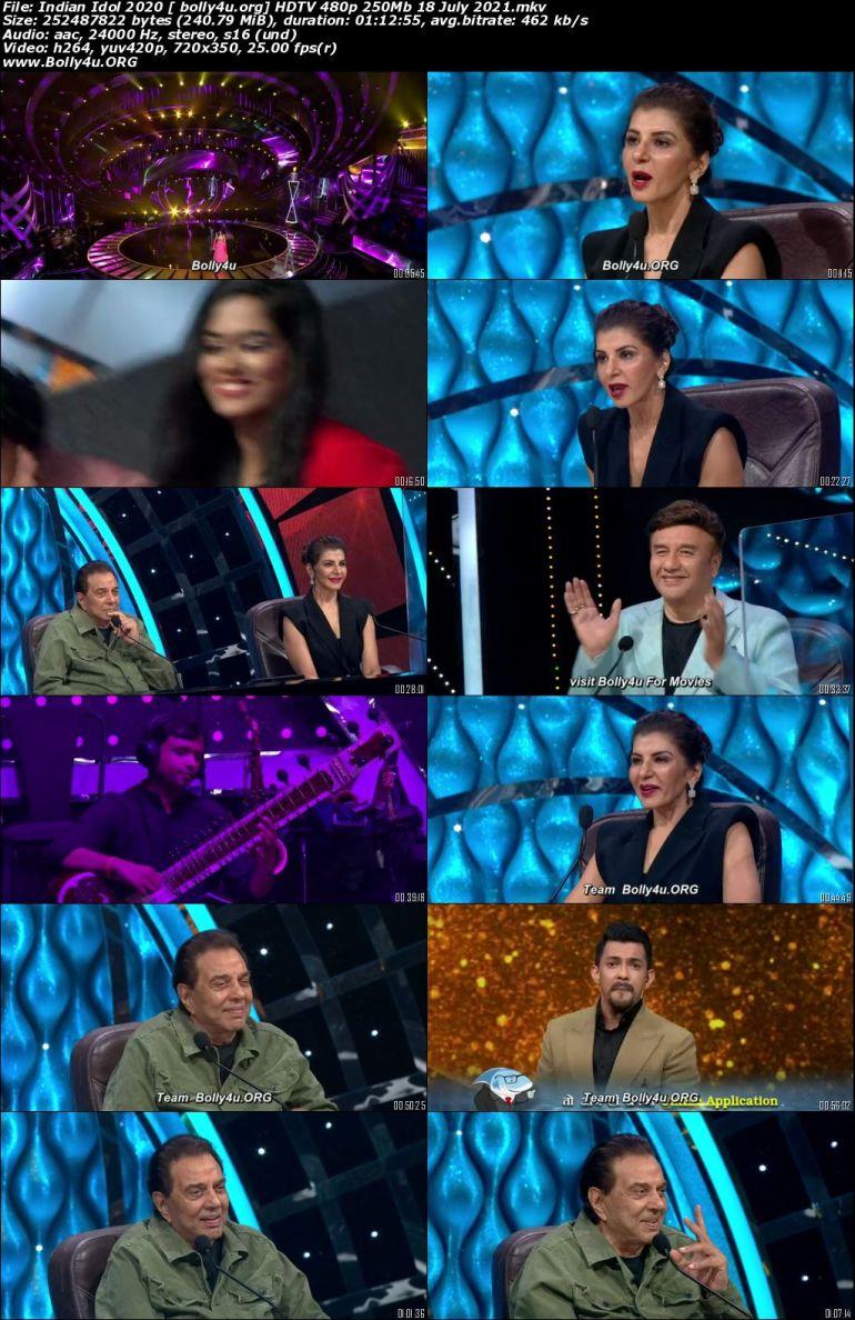 Indian Idol HDTV 480p 250MB 18 July 2021 Download