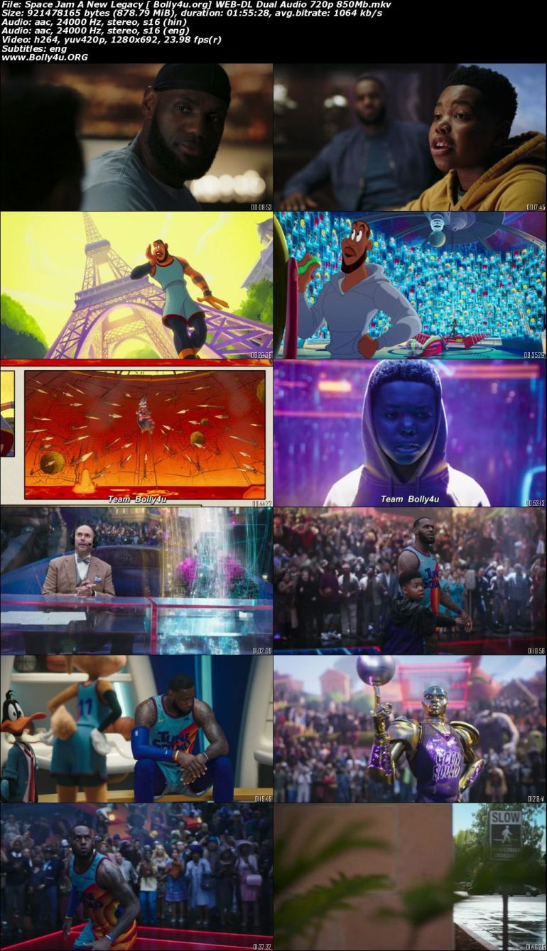 Space Jam A New Legacy 2021 WEB-DL 850Mb Hindi Dual Audio ORG 720p Download