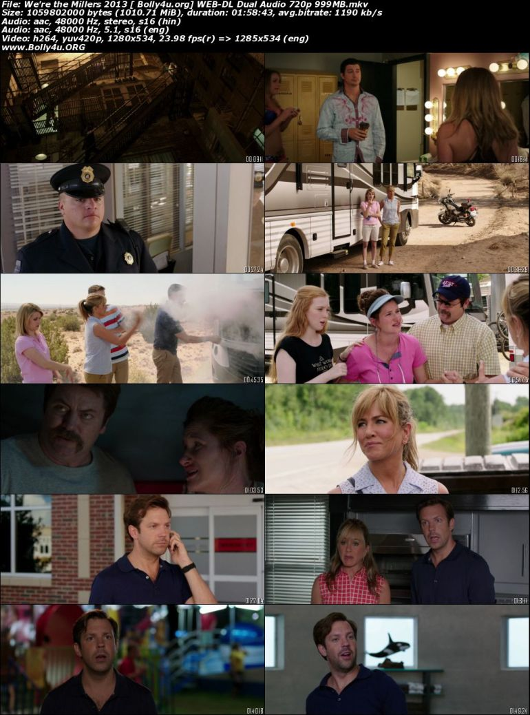 We are the Millers 2013 BluRay 400Mb Hindi Dual Audio 480p Download