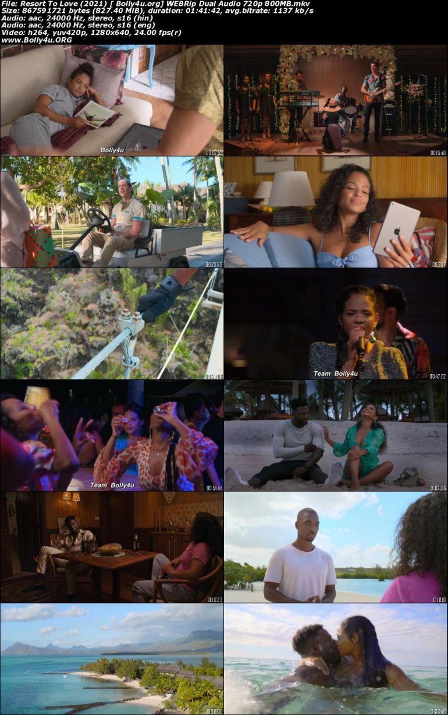 Resort To Love 2021 WEBRip 800Mb Hindi Dual Audio ORG 720p Download