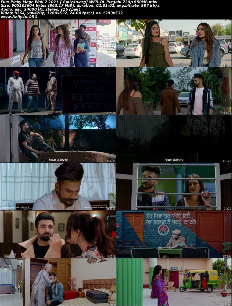 Pinky Moge Wali 2 2021 WEB-DL 400MB Punjabi Movie Download 480p