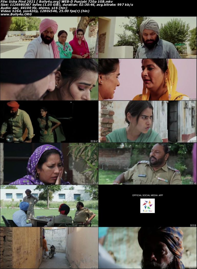 Ucha Pind 2021 WEB-DL 400MB Punjabi Movie Download 480p