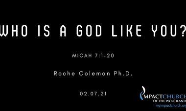 Who Is a God Like You? pt.1