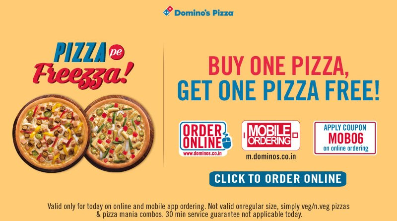 Discount coupons for dominos pizza