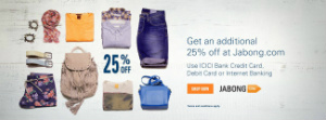 Jabong ICICI Bank Offer