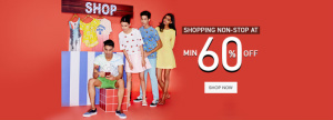 Jabong Minimum 60% Off