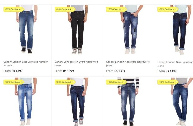 Paytm Jeans Offer