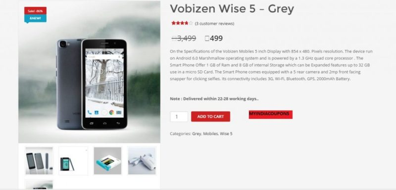 Vobizen WISE 5 Grey