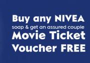 Nivea Soap Free Couple Movie Voucher Offer