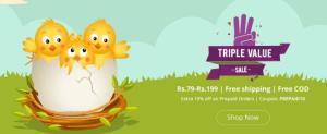 Shopclues Triple Value Sale