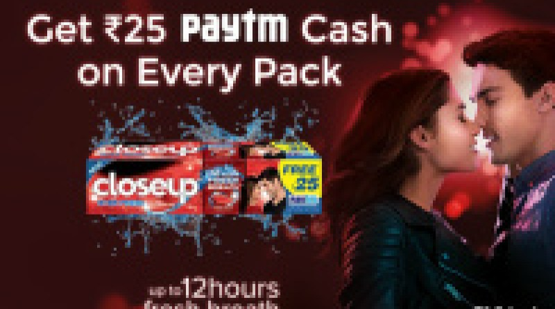 Closeup Paytm Cash Offer