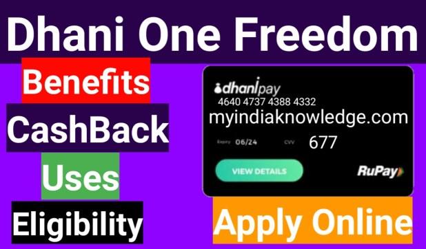 Dhani One Freedom Card