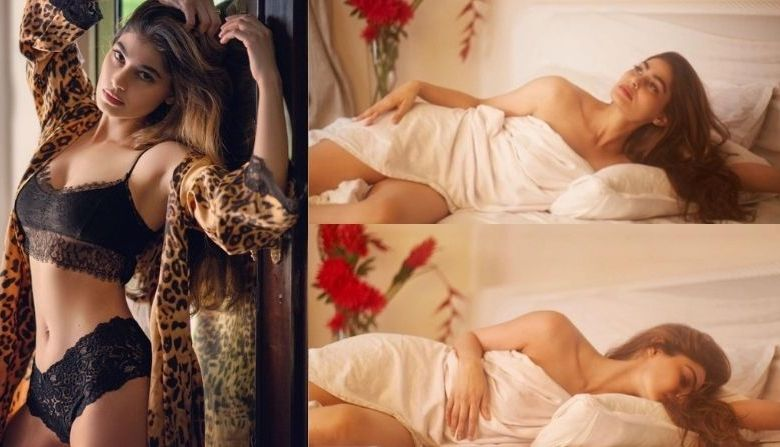 Photo of Pics: Wearing only bedsheet, Pooja Gupta got sexy photoshoot done, bold pictures went viral on social media
