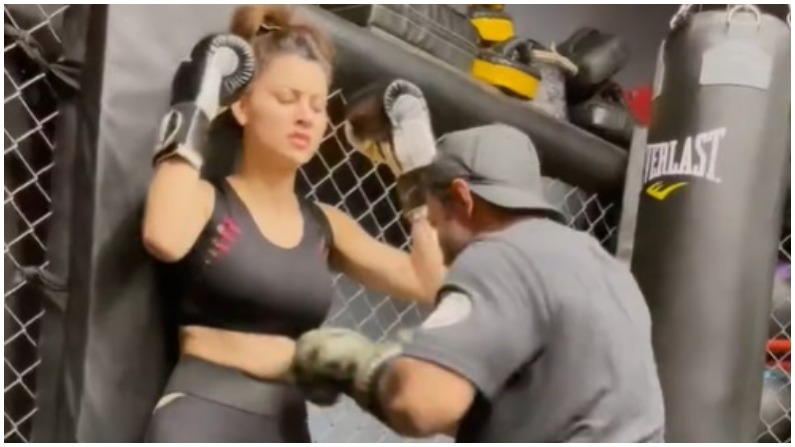 The man punched Urvashi Rautela on her stomach, see in the video how was the condition of the actress
