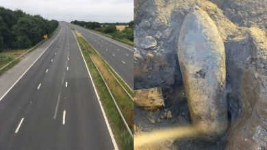 Photo of UK: Excavator workers found 'alive' bomb of World War II, area evacuated, roads closed and declared no-fly zone