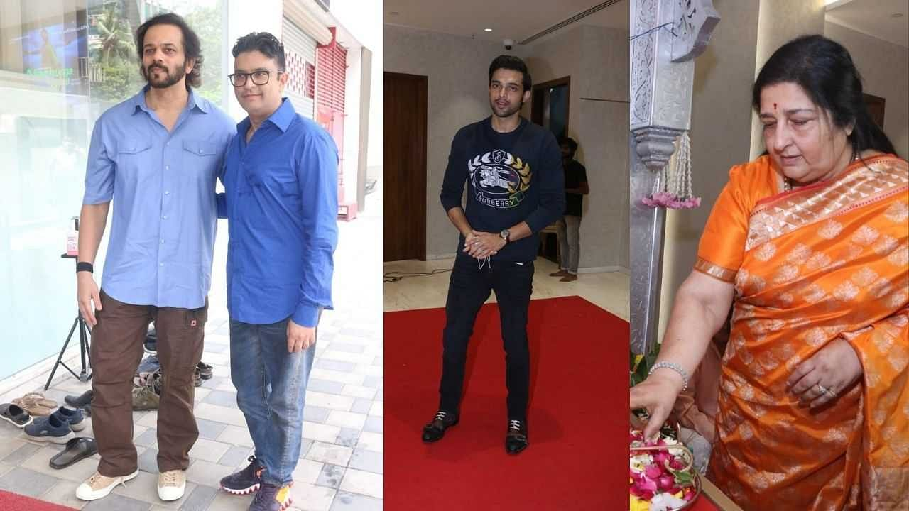 Many stars including Rohit Shetty arrived to visit Ganpati of T-Series office, see photos