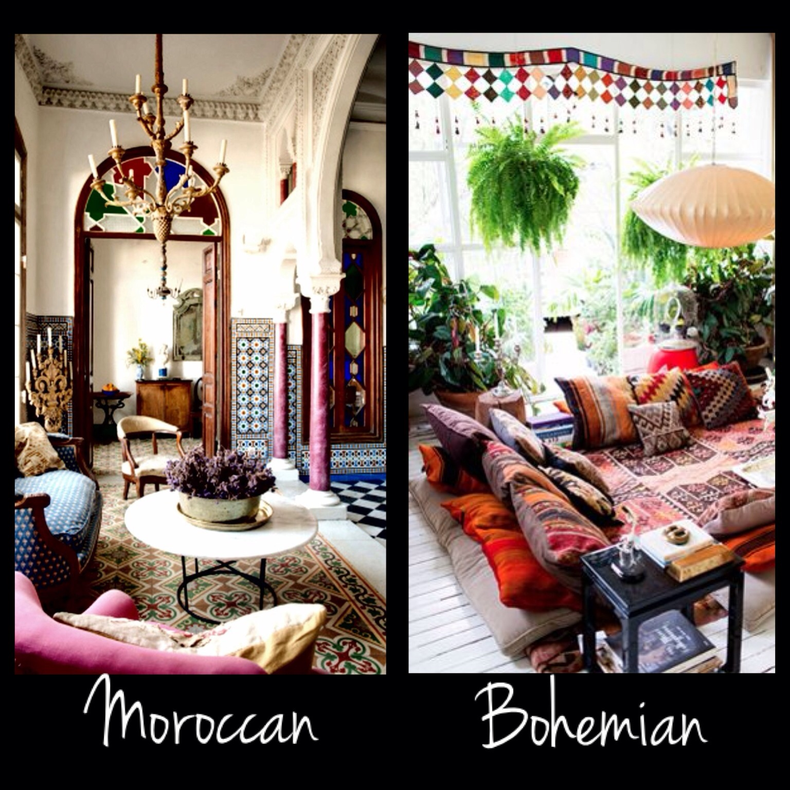 The Thin Line Between Moroccan And Bohemian Style My